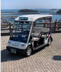 サラメシの広島・鞆の浦のゴルフカート型・次世代タクシーは「グリスロ潮待ちタクシー」!?